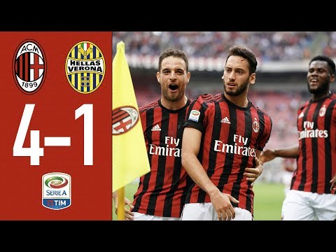 Highlights AC Milan 4-1 Hellas Verona - Serie A 2017/18
