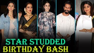 Shahid Kapoor,Kriti Sanon, Anushka Sharma, Alia Bhatt,Karan Johar,Urmila Matondkar, Shilpa Shetty and Rekha Celebs Attend Jitesh Pillai Editor Of Filmfare Magazine 2017 Birthday Bash 2017.Report By: Abhishek HalderEdited By: Advait Pansare.Subscribe now and watch for more of Bollywood Entertainment Videos at http://www.youtube.com/subscription_center?add_user=bollywoodnowRegular Facebook Updates https://www.facebook.com/bollywoodnow.  Twitter Updates https://twitter.com/bollywoodnow  Follow us on Pinterest: https://pinterest.com/bollywoodnow  Follow us on Google+ : https://plus.google.com/+bollywoodnow