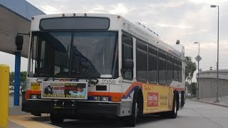 Video clip of Orange County Transportation Authority 2001 NABI 40LFW #2117 in service on Route 26 in FullertonPowertrain: Cummins ISL-GTransmission: Allison B400R