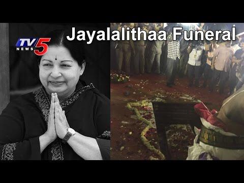Jayalalithaa Funeral | Sasikala Performs Last Rites At Marina Beach | MGR Memorial