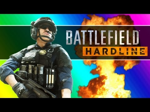 Battlefield Hardline Beta Funny Moments – Following Fun, Motorcycle Friends, Climbing Up The Crane!