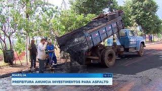 Prefeitura de Marília anuncia investimento de R$ 30 milhões em obras de pavimentação e recape