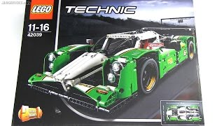 Built in 60 seconds: LEGO Technic 24 hours Race Car 42039