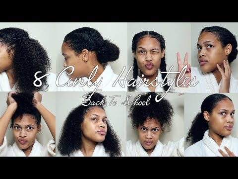 BACK TO SCHOOL CURLY HAIRSTYLES