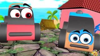 Kartun anak LUCU - Video Mainan kartun Anak Mobil, Tank & Kereta Api