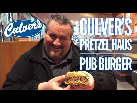Culver's Pretzel Haus Pub Burger (2018)