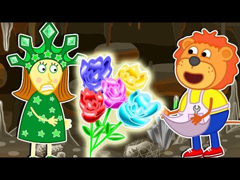 Lion Family Official | Mistress of the Copper Mountain №2. Malachite Toys | Cartoon for Kids