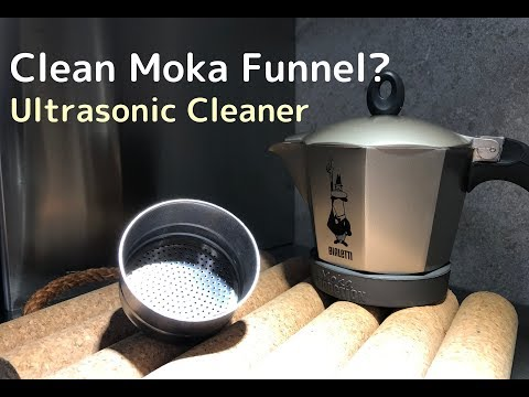 How To Clean Moka Pot Funnel? Try Ultrasonic Cleaner.