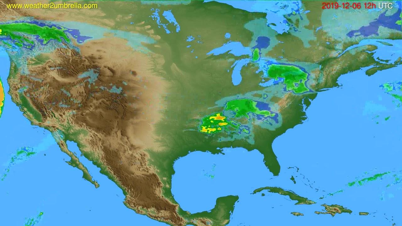 Radar forecast USA & Canada // modelrun: 00h UTC 2019-12-06