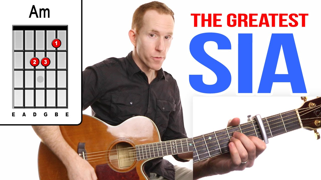 The Greatest ★ SIA ★ Guitar Lesson – Easy How To Play Acoustic Songs – Chords Tutorial