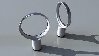 3D Timelapse : Bladeless fan modeling - Autodesk Maya