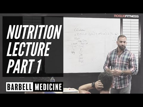 Nutrition Lecture Pt 1:  Assessing Intake, Initial Diet Changes, and What to Track?