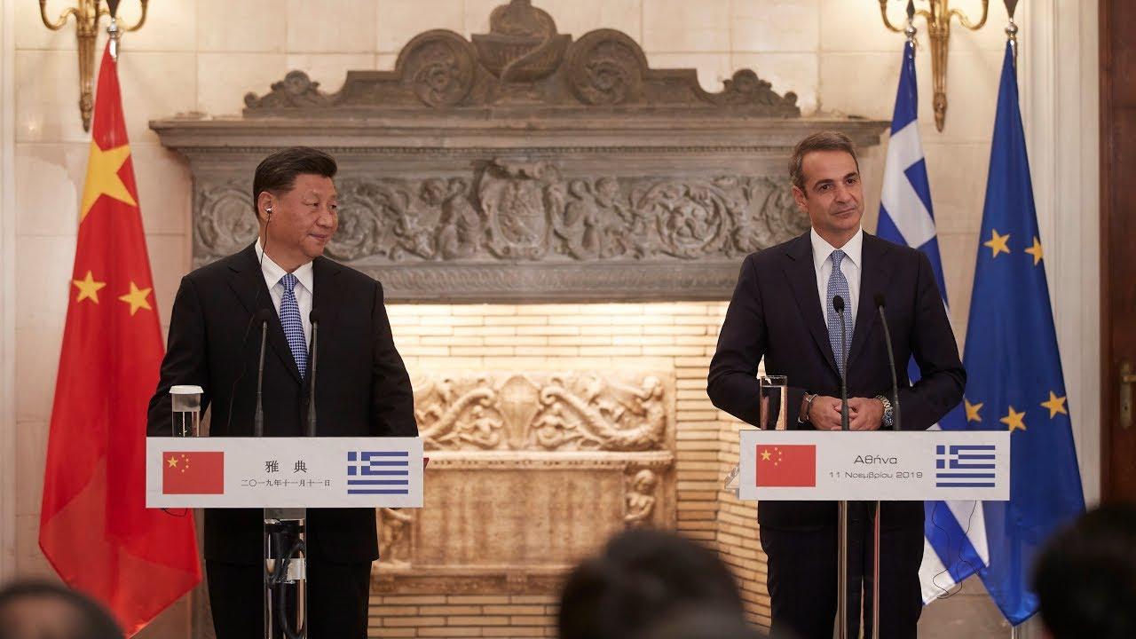 Κοινές δηλώσεις Κυριάκου Μητσοτάκη και του Προέδρου της Κίνας Xi Jinping