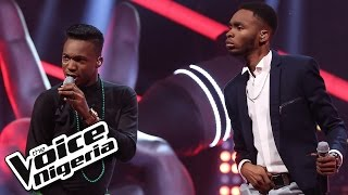 Daivy Jones vs Joe Blue singing 'Oliver Twist/ The Voice Nigeria 2016