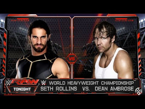 WWE-2K16 -Seth Rollins vs Dean Ambrose One On One Match for WWE World Heavyweight Championship