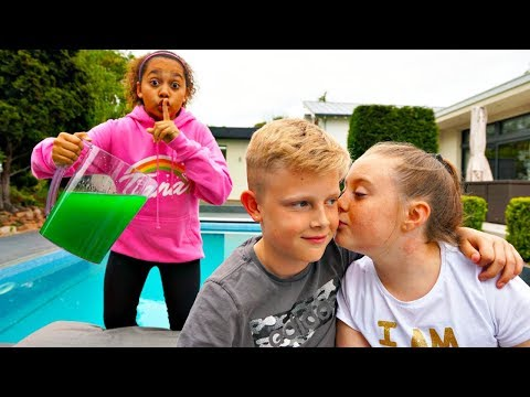 SLIME PRANK ON MY SCHOOL CRUSH!!