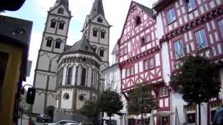 Boppard Germany  City new picture : Tourist Street Train Ride Through Boppard, Rhineland Palatinate, Germany - 24th August, 2014