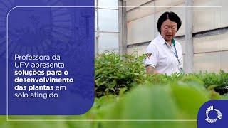 Professora da UFV apresenta soluções para o desenvolvimento das plantas em solo atingido
