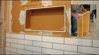 How to make a custom  niche out of foam board for your shower