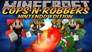 Minecraft Mini-Game : Cops N Robbers Nintendo Edition w/Deadlox, Kkcomics, Bodil40&Cavemanfilms!
