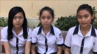 Dự thi tập thể ATGT-Truong Thap Cham NinhThuan