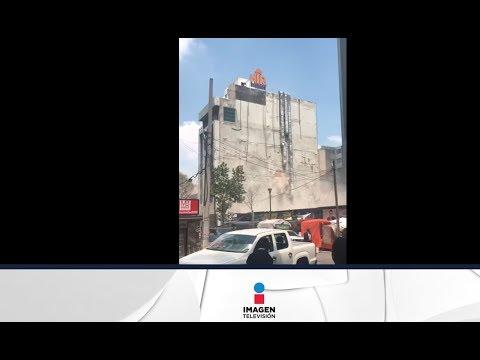 Sismo del 19 septiembre de 2017 | Edificio de la Ciudad de México casi colapsa (видео)