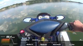 3. Sea doo GTX 155 KM  Max speed Jeziorsko 2016 Wrestlemania