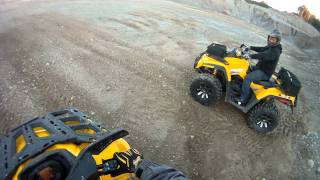 4. 2012 Can Am Outlander 1000 running an 800