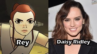 """The Voice Cast for Lucasfilm's & Disney's """"Star Wars Forces of Destiny"""" (From the first set of 8 episode shorts)----------------------Do you recognize any voice actors? Where do your recognize them from? Who's your favorite character(s)? What's your favorite moment(s) In the film/series/game?For More Characters and Voice Actors - https://www.youtube.com/playlist?list=PLEX-pRIMnN4DcrKJhheGFbNko9FY8rjNY"""