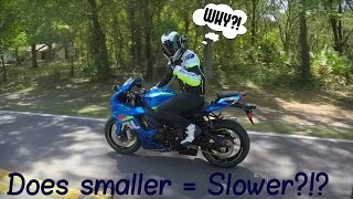 6. Why a Gsxr 750 after owning a liter bike?