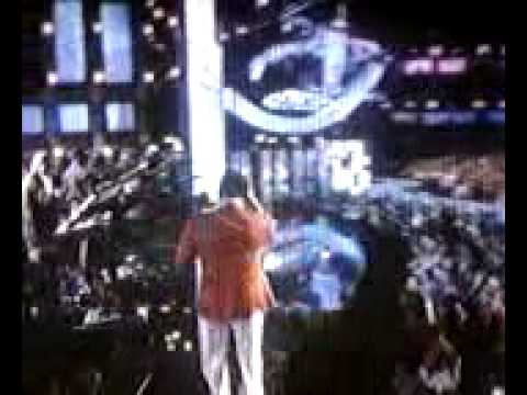 Charlie Wilson tossing Sweat Soaked tissue @ BET A