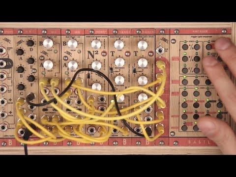 Modular Drum machine – TEA KICK, NOISE SQUARE and SKIS demo, Bastl Instruments modular