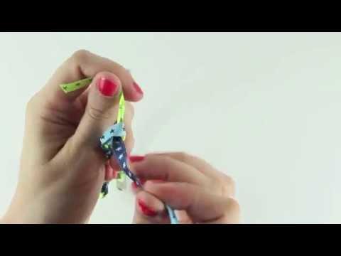 farbenmix: Webband-Armband flechten