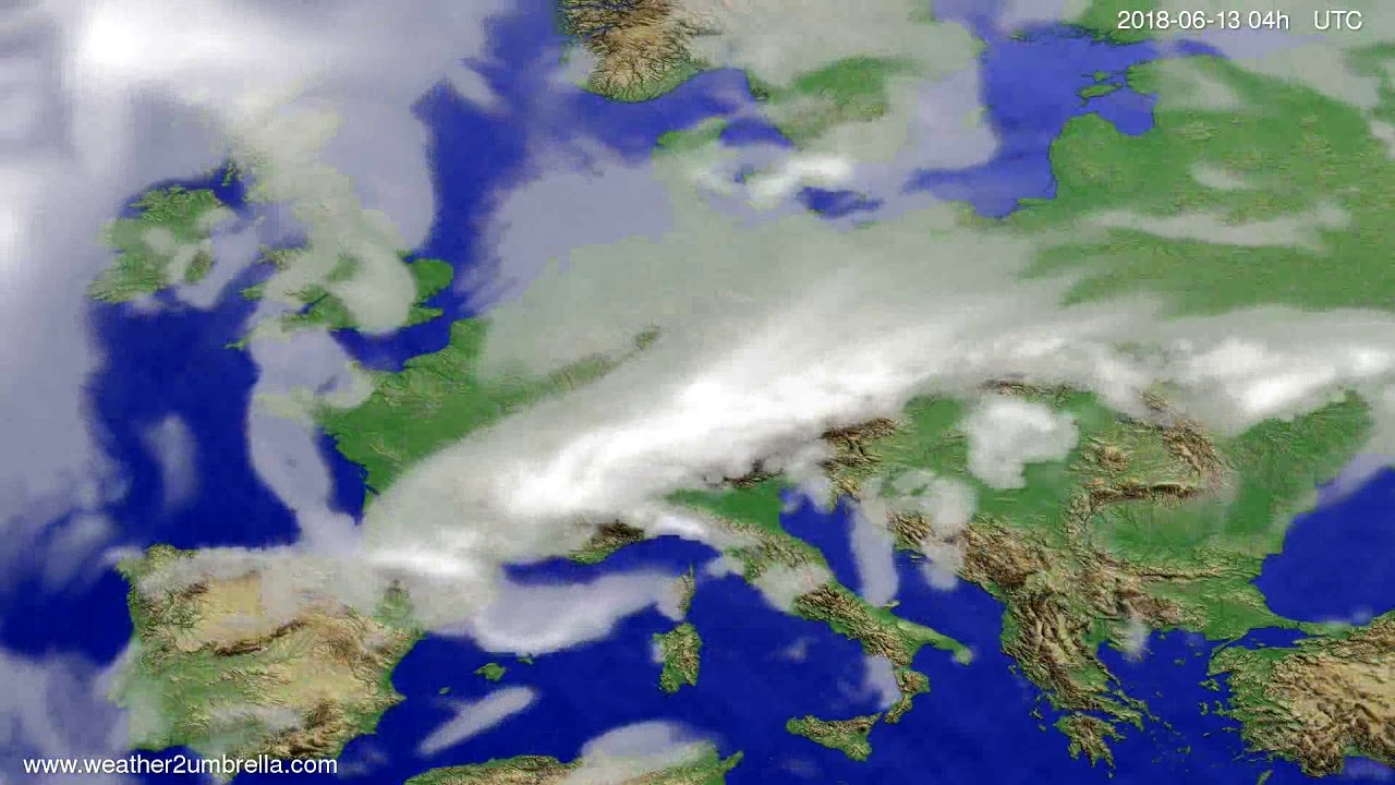 Cloud forecast Europe 2018-06-09