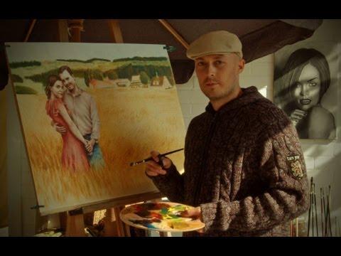 speed drawing painting a portrait oil zeichnen malen gemalt gezeichnet farbe bild dry brush