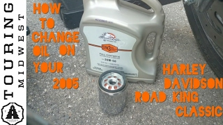 7. How to change oil on 2005 Harley Davidson Road King Classic
