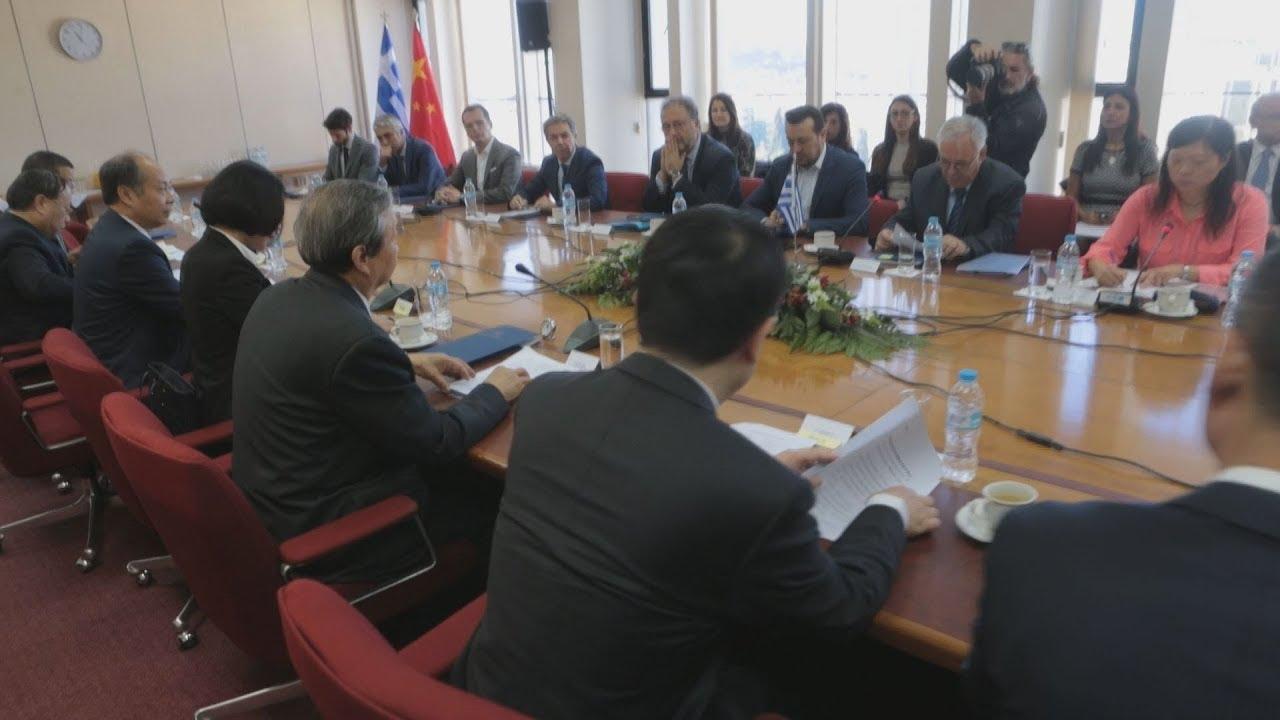 Συνάντηση του αν.πρωθυπουργού της Κίνας , Μa Kai με Γ.Δρασαγάκη