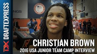 Christian Brown Interview at USA Basketball Junior National Team Camp