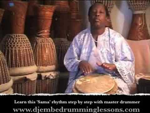 Djembe Drum Lesson. Learn 'Sama' Djembe Rhythm with Master Drummer Lamin Jassey