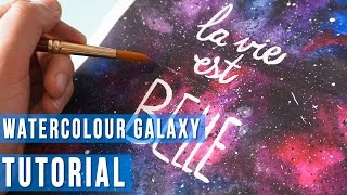 ART TUTORIAL  How to Paint a Galaxy with Watercolours  Liz L...