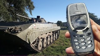 Nokia 3310 vs TankGet my shirts here:http://bit.ly/LeadFarmerClothingFacebook: http://www.Facebook.com/RichardRyanInstagram: http://www.Instagram.com/RichardRyanCheck out the video I did with FPSRussia here:http://www.youtube.com/watch?v=6pVDbc5BXlg