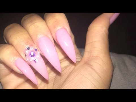 Gel nails - NO ACRYLIC! LONG PINK STILETTO NAILS AT HOME  GEL EXTENSIONS  MIA SECRET FORMAGEL