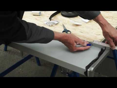 Montage einer Alu-Fensterbank / Installation of aluminium window sills