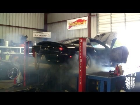 dyno - This was nuts! The tires blew up when the car was going about 200mph on the dyno. The Camaro was making over 1800rwhp!! The drag radials just couldn't handle...