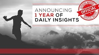 Day 1 - Announcing 1 Year of Daily Insights