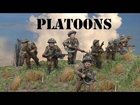 Platoons - a natural unit size for a modern army