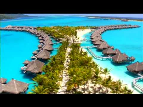 resort - Aerial views of the St Regis Resort Bora Bora. Visit http://www.etahititravel.com for more information or for a Bora Bora vacation package Music : Ah Nee Mah...