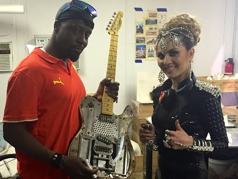 Wyclef Jean and Xenia Ghali with the