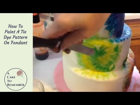How To Paint Tie Dye On Fondant Cakes. Cake Decorating Tips