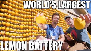 Lemon powered Supercar- WORLD'S LARGEST Lemon Battery